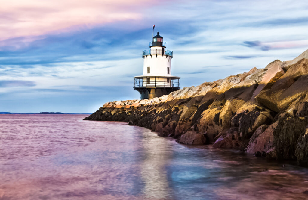 Spring Point Ledge Lighthouse in Portland.
