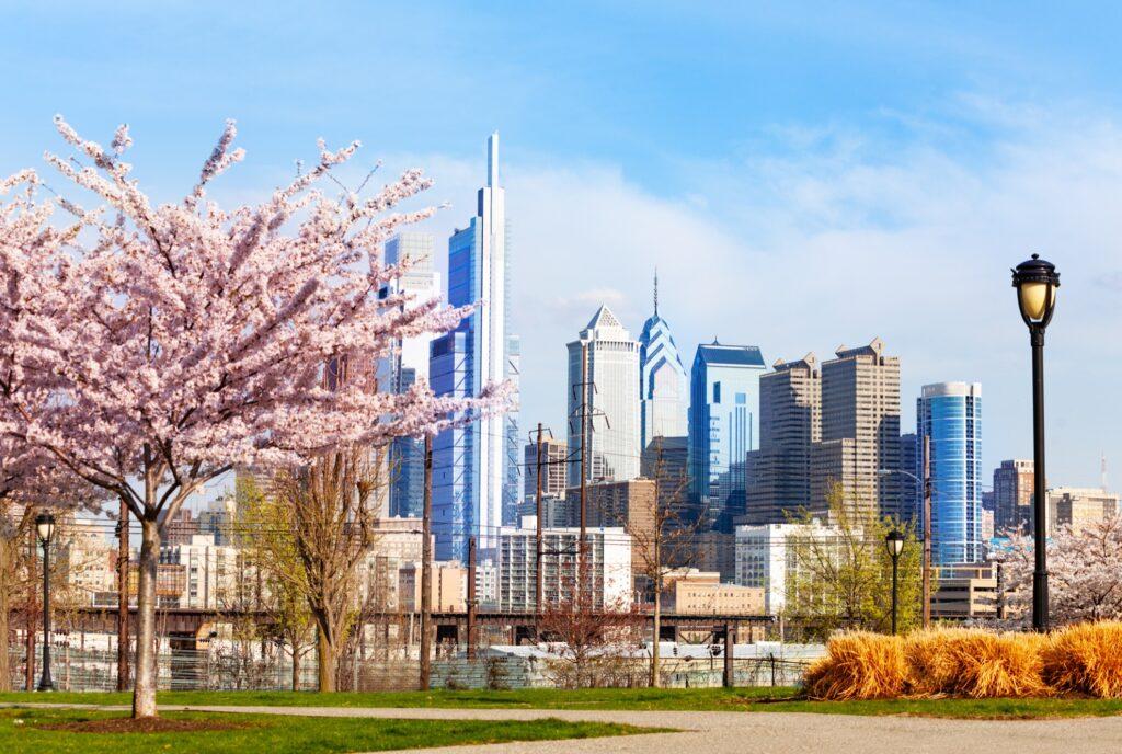 Springtime in Philadelphia.