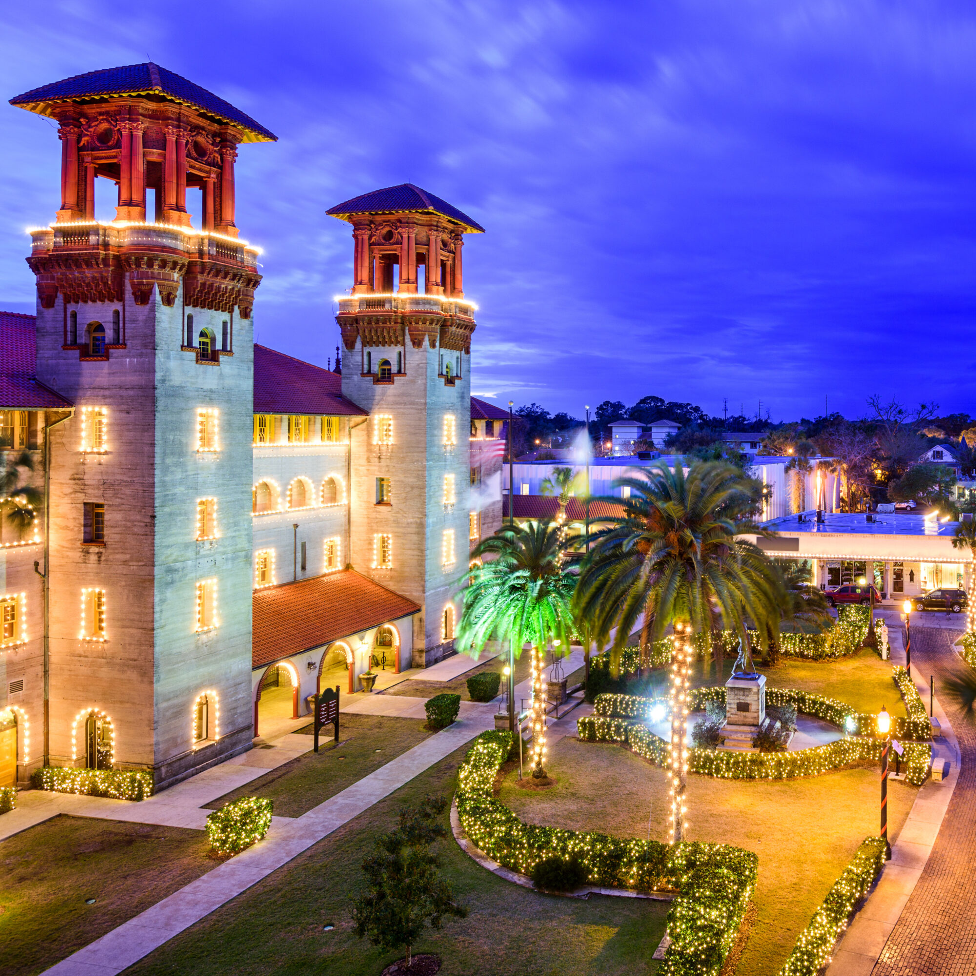 St. Augustine's Night of Lights during Christmas time.