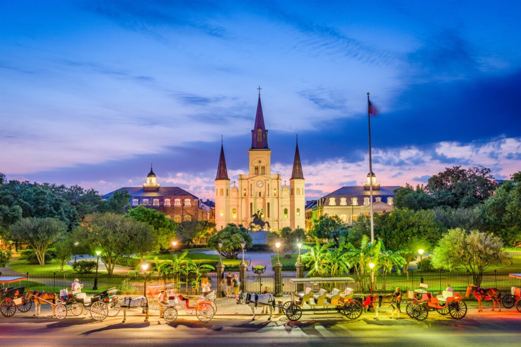 St. Louis Cathedral in New Orleans, Louisiana.