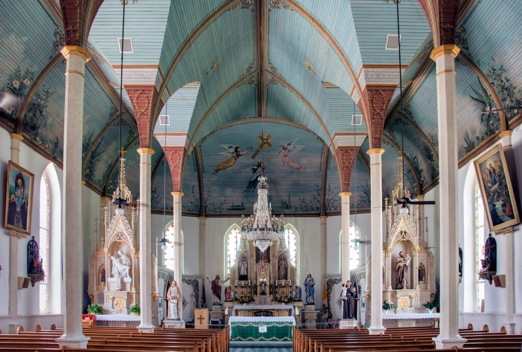 St. Mary's Catholic Church in Praha, Texas.