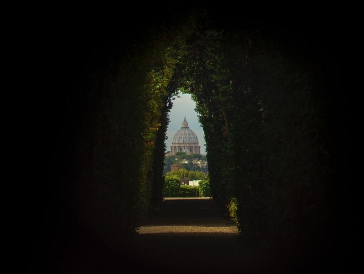 St. Peter's Basilica, Vatican City, seen from a distance.