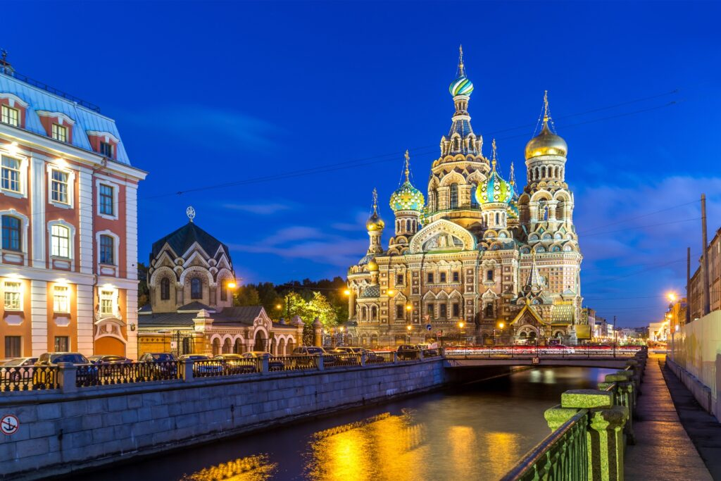 St. Petersburg in Russia.