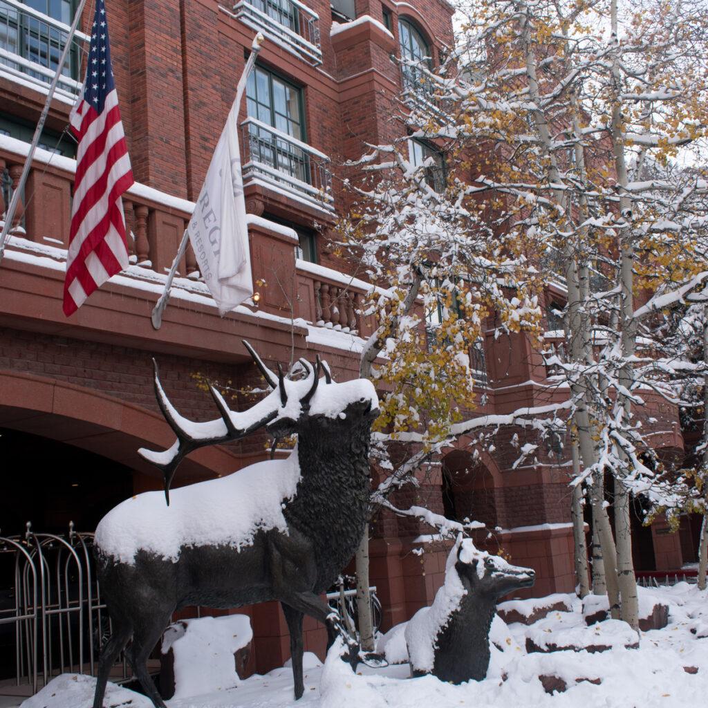 St. Regis Aspen Resort during winter time.