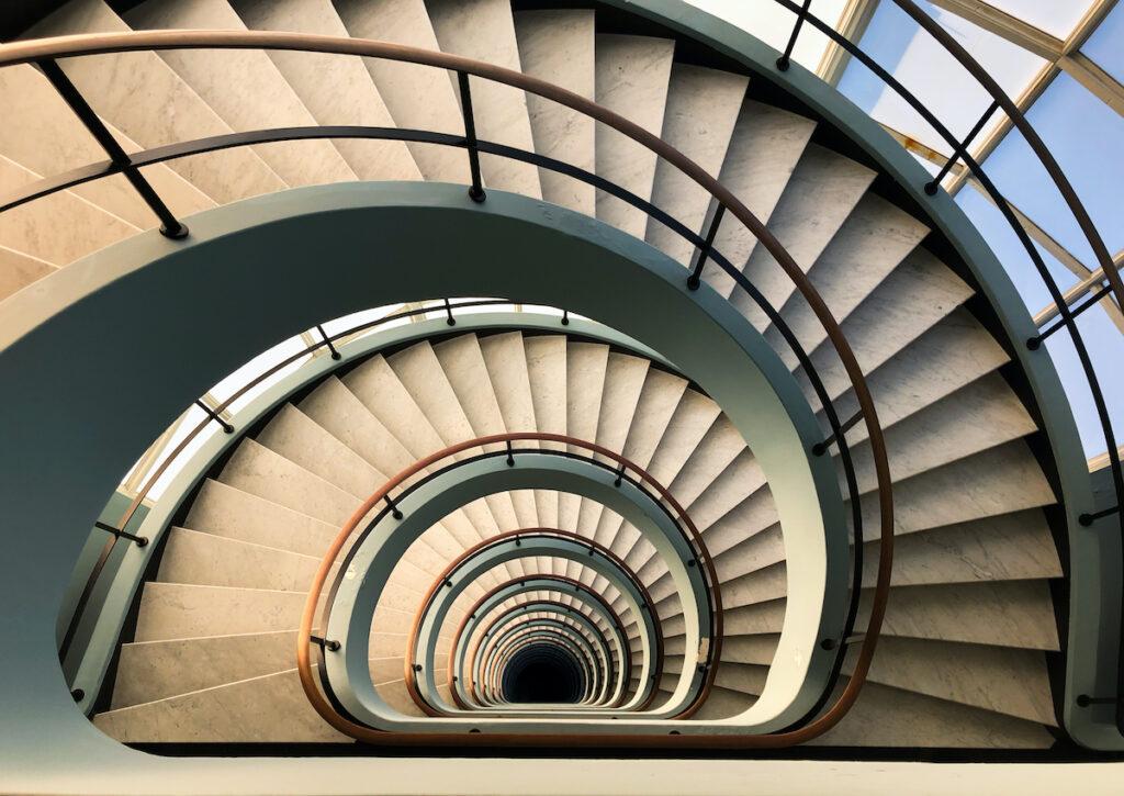 Staircase in Den Bell Tower in Antwerp.