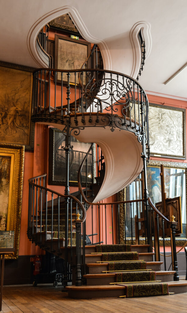 Staircase in Gustave Moreau Museum in Paris.