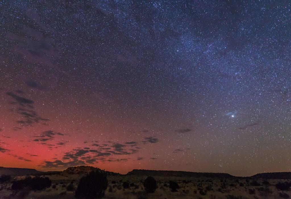 Stargazing at Black Mesa State Park in Oklahoma.