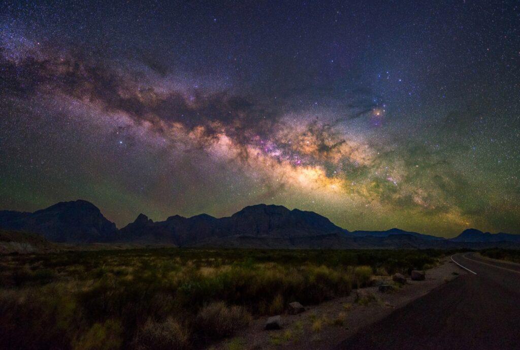 Stargazing in Big Bend National Park, Texas.