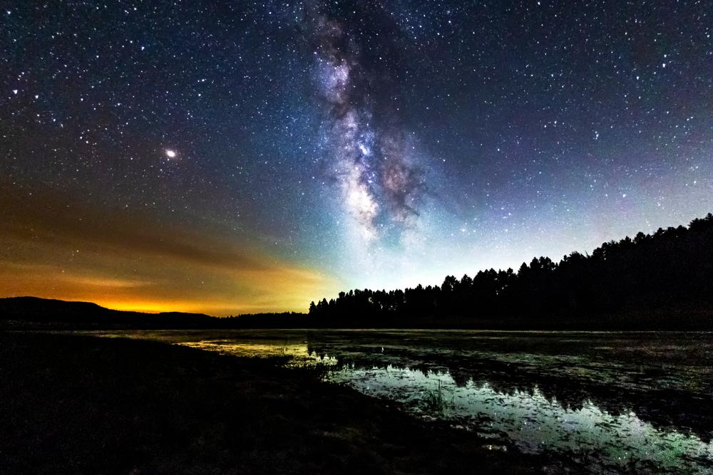 starry sky in mount laguna