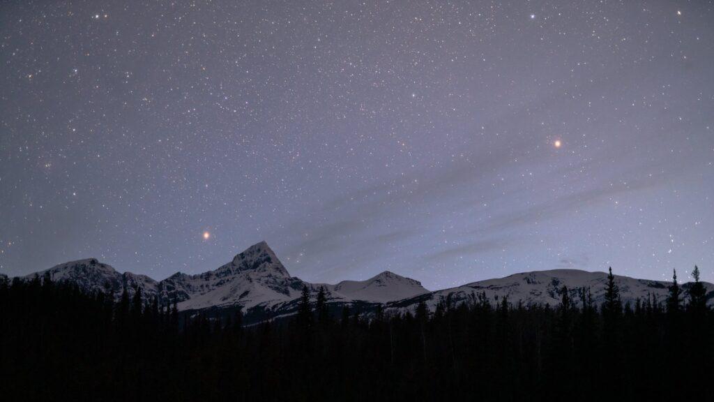 Starry sky over Jasper.