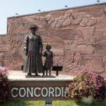 Statue Of Anna Laura Hill And Orphan Train Rider, Concordia.