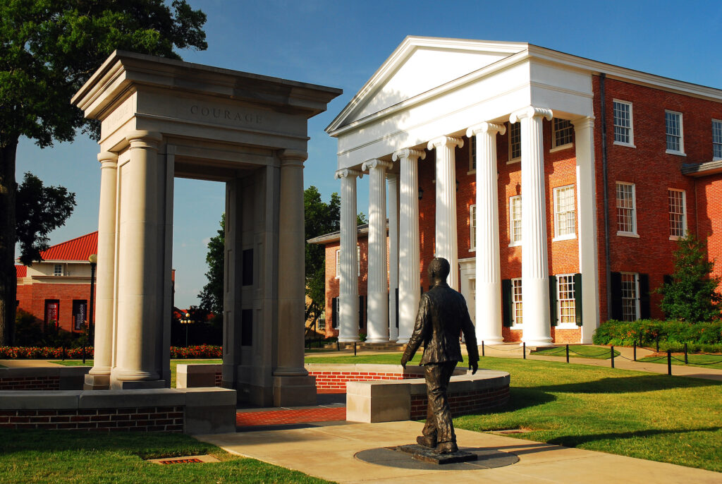 Statue of James Meredith at the University of Mississippi.
