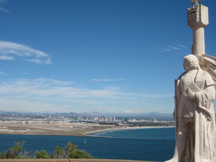 Statue of Juan Cabrillo, San Diego.