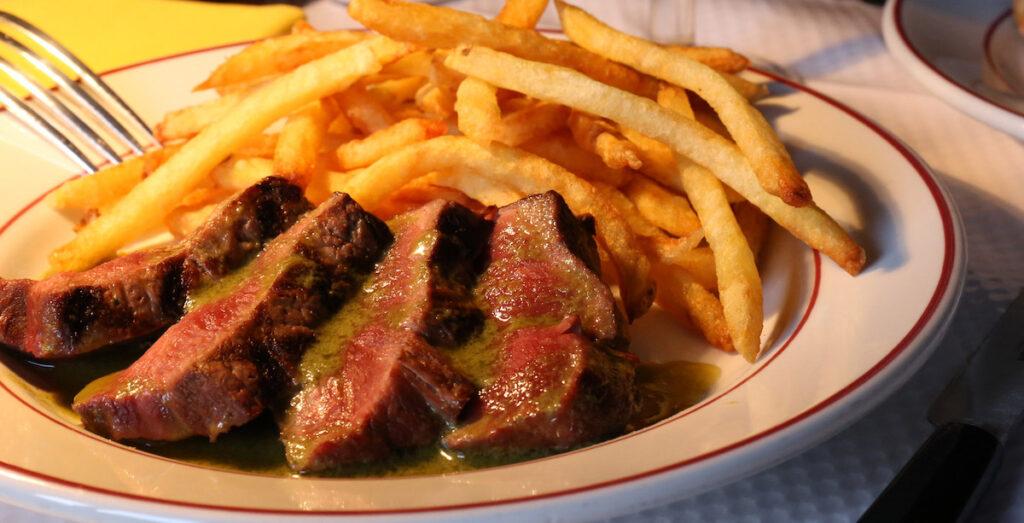 Steak frites from Le Relais de L'Entrecote.