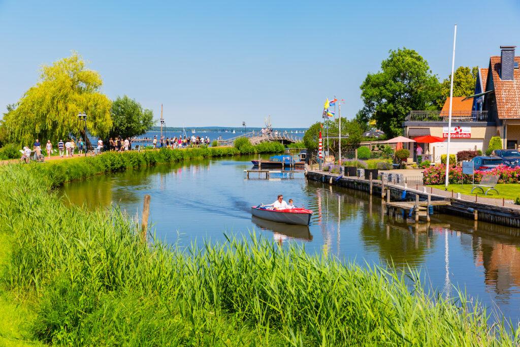 Steinhuder Meer, a lake in Lower Saxony, Germany.