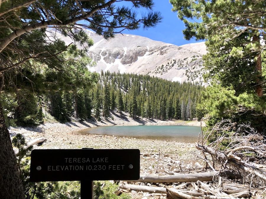 Stella Lake in Great Basin State Park.