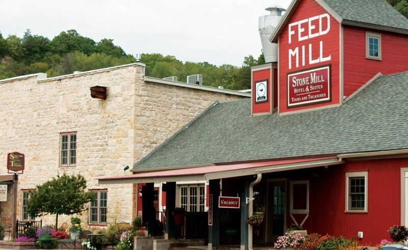 Stone Mill Hotel and Suites in downtown Lanesboro.