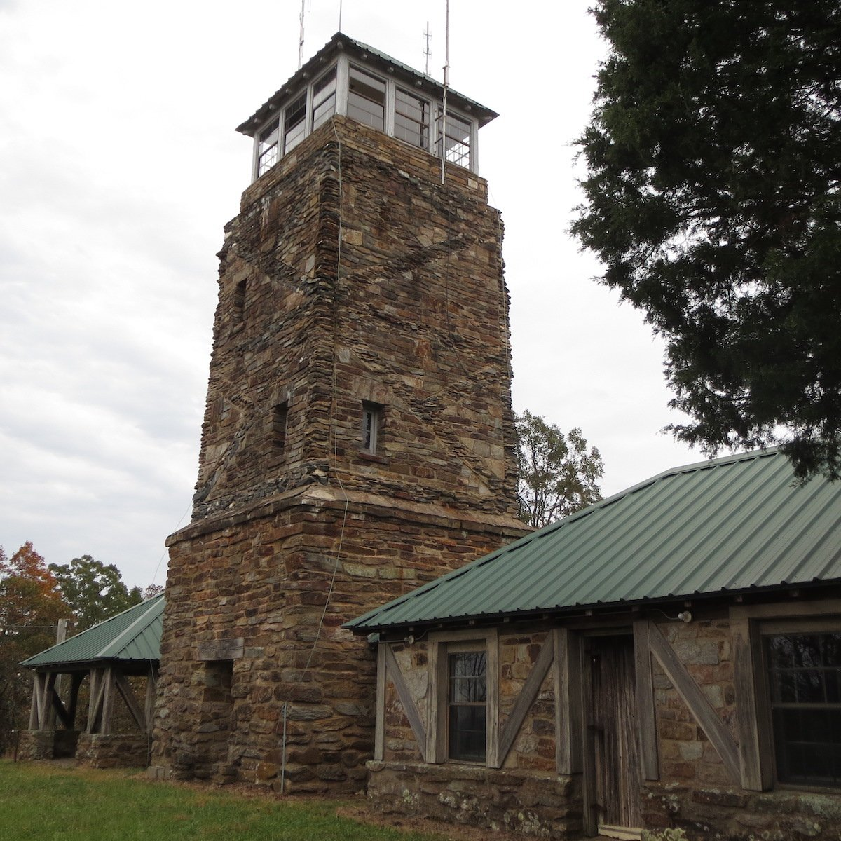 Stone tower at Flagg Mountain.