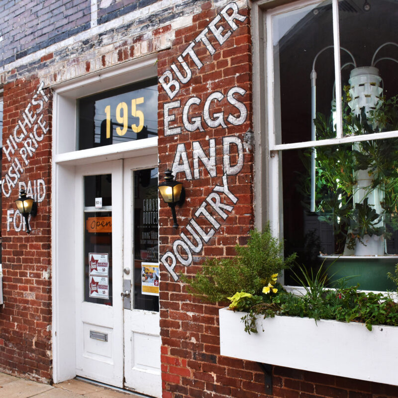 Store entrance in Culpeper, VA.
