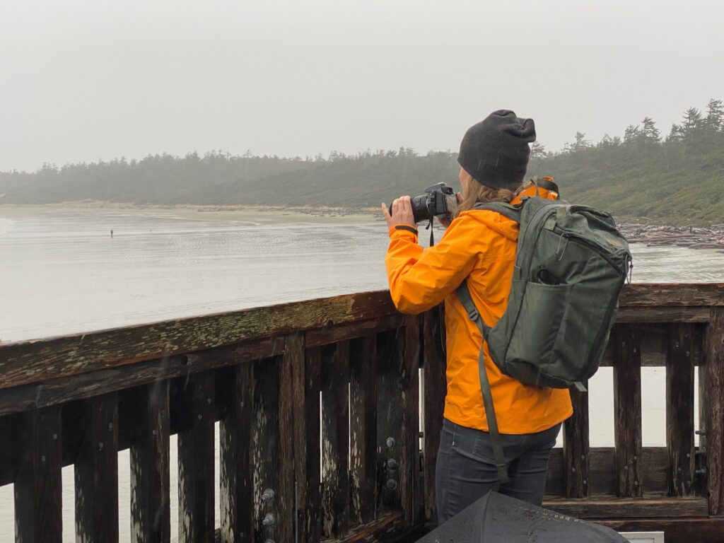 Storm watching in Tofino on Vancouver Island.