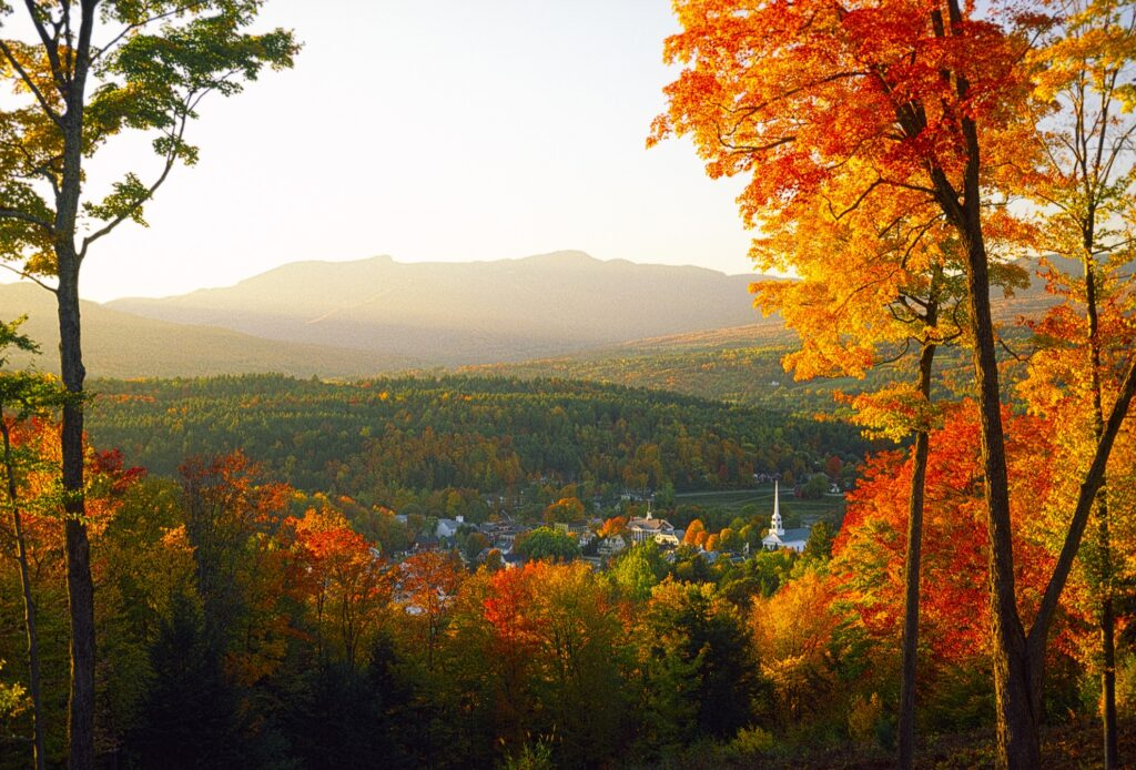 Stowe, Vermont, during the fall.