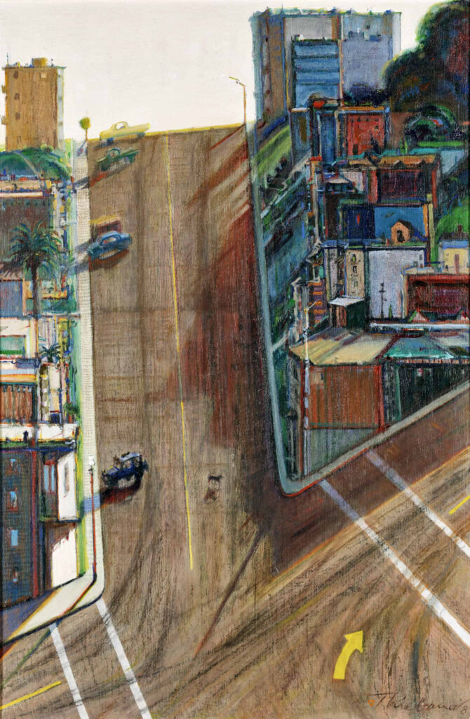 Street and Shadow, a painting by Wayne Thiebaud.