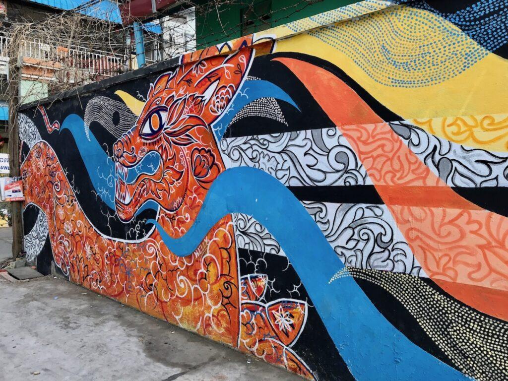 Street art at Phnom Penh.