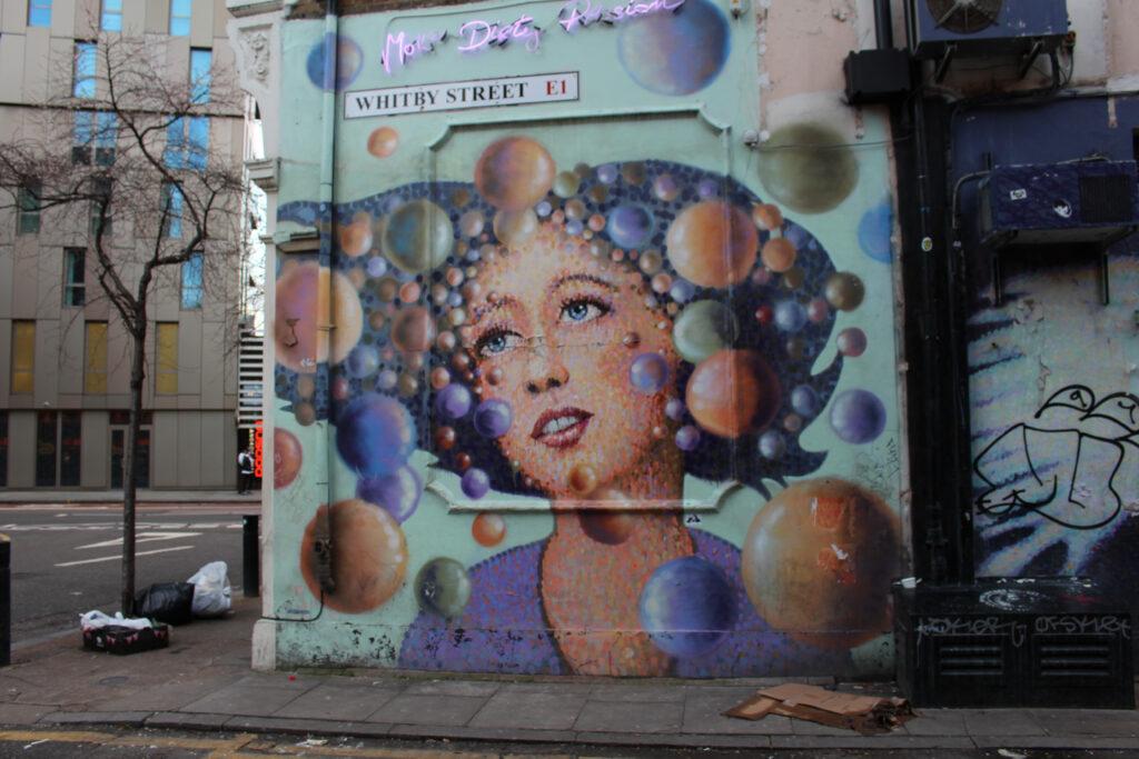 Street Art by Jimmy C on Whitby Street in Shoreditch, London