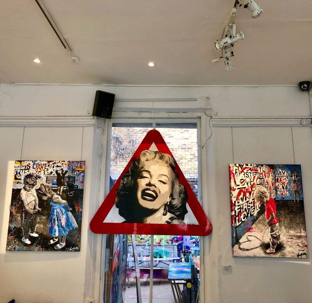 Street art for sale in Graffik Gallery in London