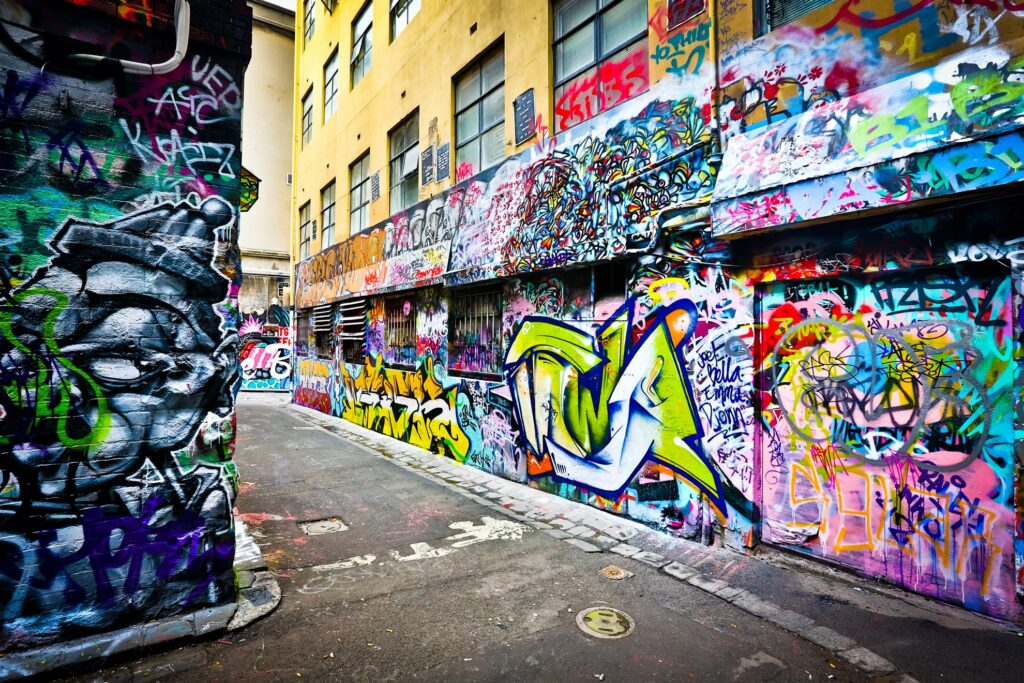 Street art in Melbourne, Australia.