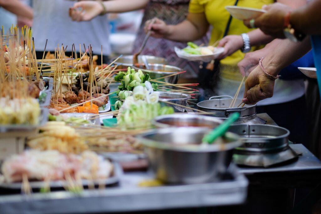 Street food in Penang, Malaysia.