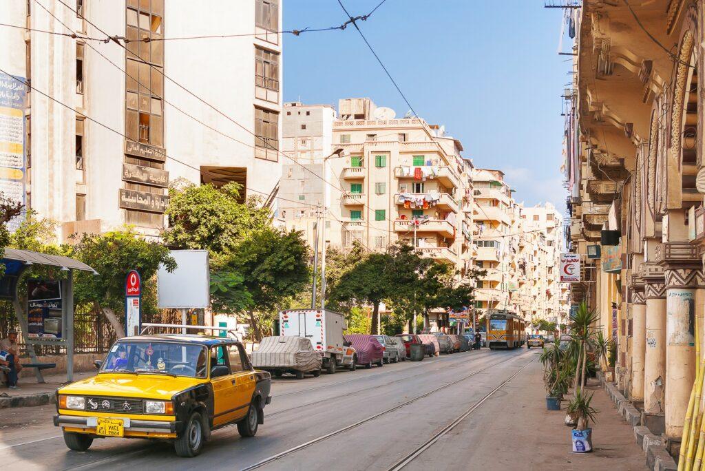 Street in Alexandria, Egypt.