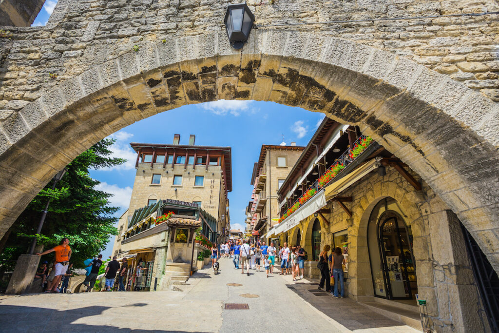 Street views in San Marino.