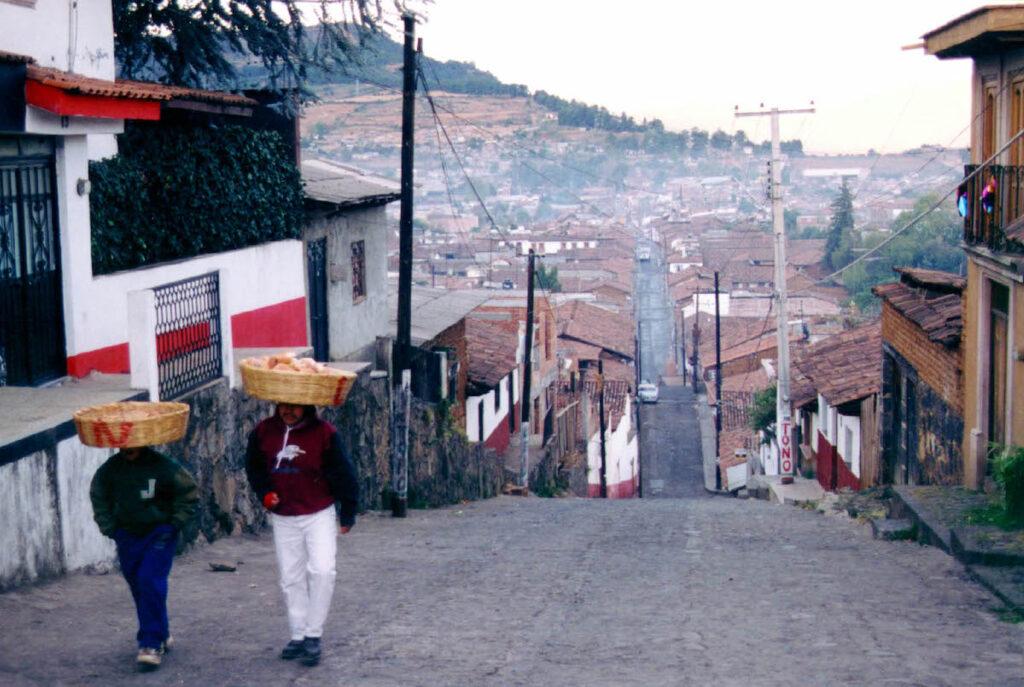 Streets in Patzcuaro.