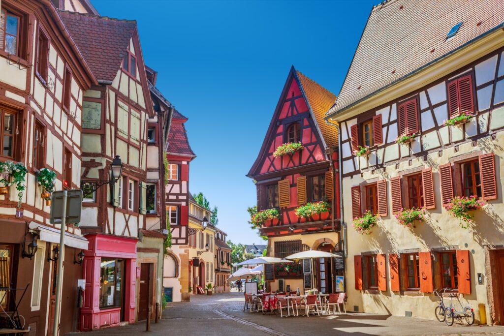 Streets of Colmar, France.