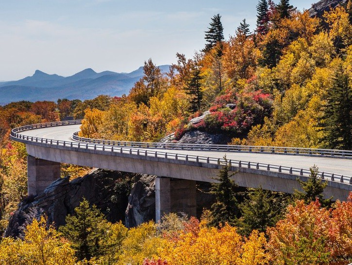Stretch of the Blue Ridge Parkway