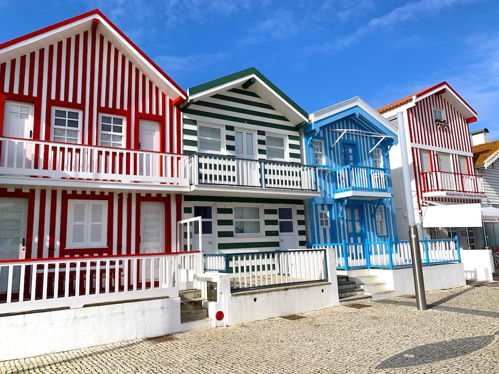 Striped houses in Costa Nova.