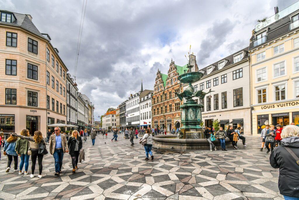 Stroget in Copenhagen.