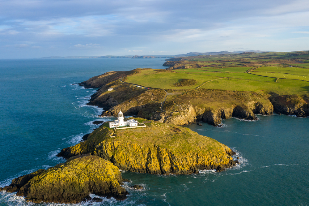 Strumble Head Lighthouse in Pembrokeshire Coast National Park.