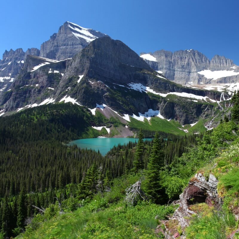 Stunning views of Glacier National Park.