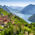 Stunning views of Lugano in the Ticino region of Switzerland.