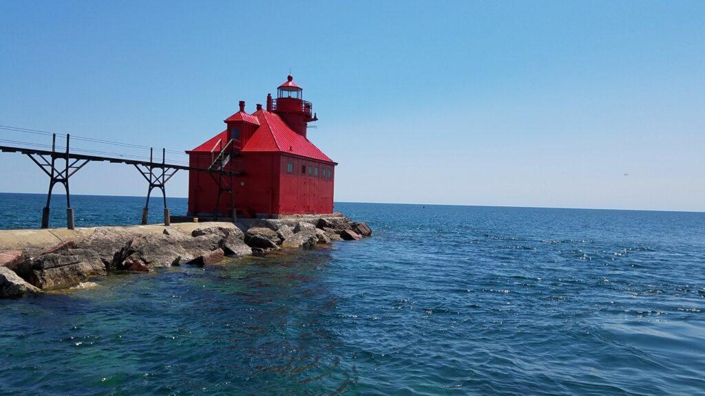 Sturgeon Bay Pierhead Light in Wisconsin.