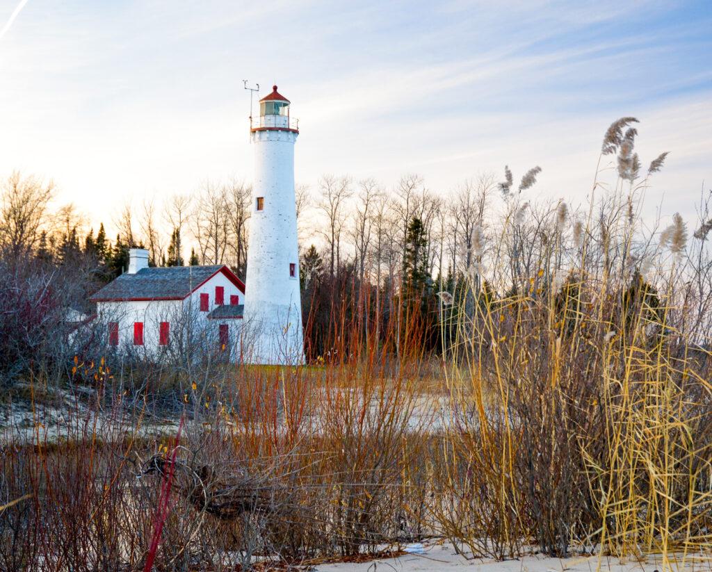 Sturgeon Point Lighthouse in Harrisville, Michigan.