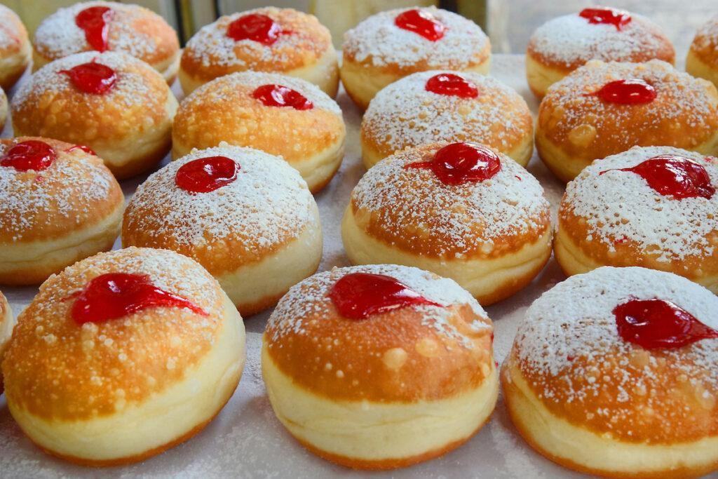 Sufganiyot, a popular Hanukkah treat.