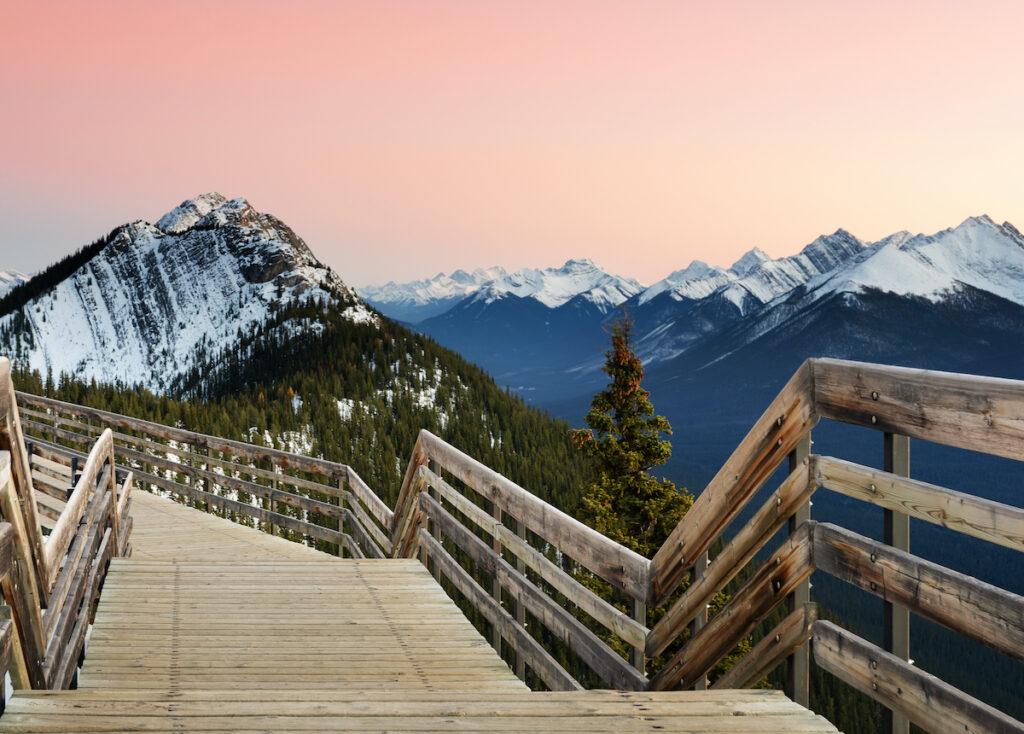 Sulphur Mountain views in Banff National Park.