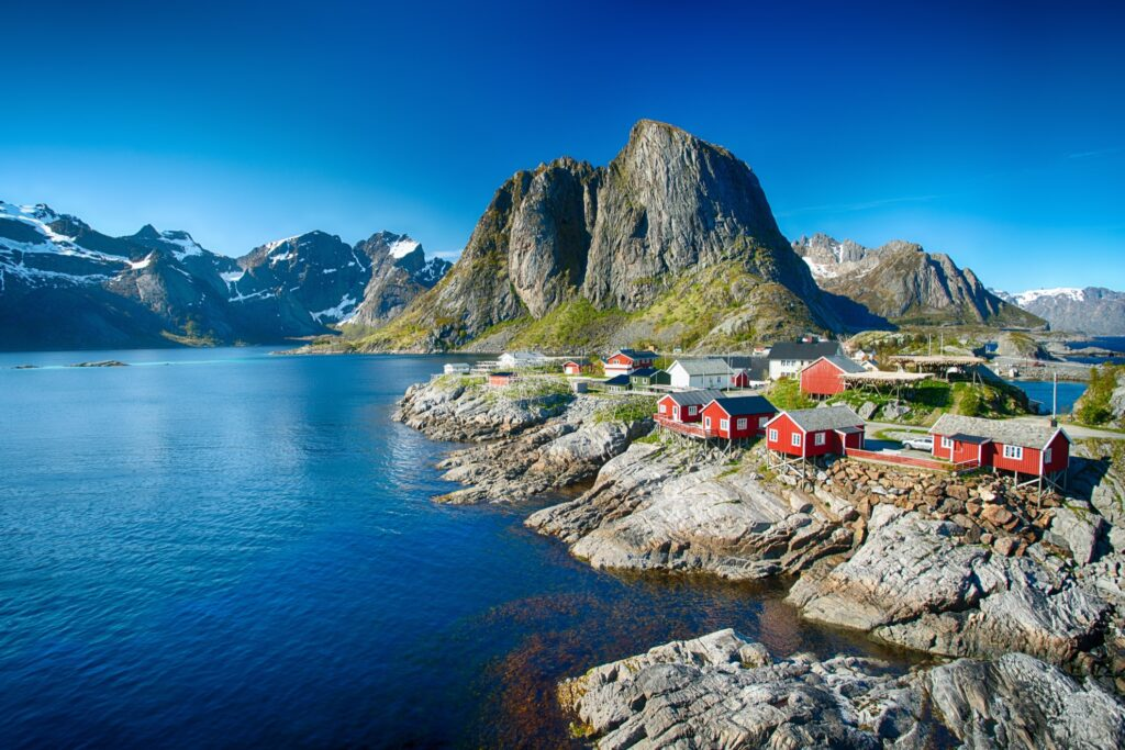 Summer in the Lofoten Islands.