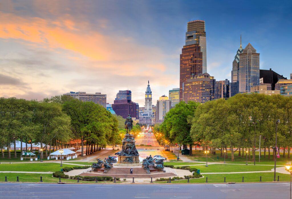 Summertime in Philadelphia.