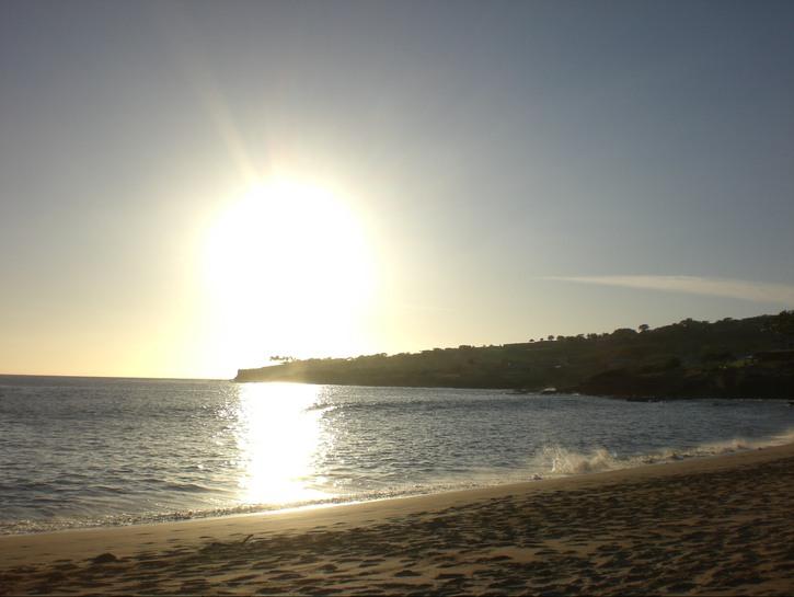 Sun setting on the beach, Lanai, Hawaii