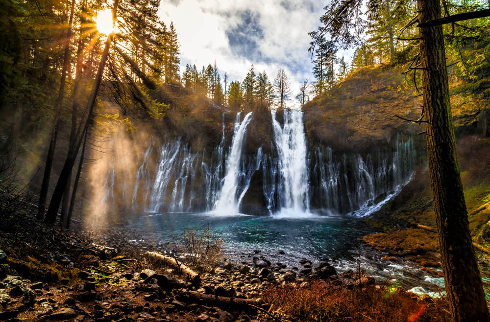Sunrise at Burney Falls.