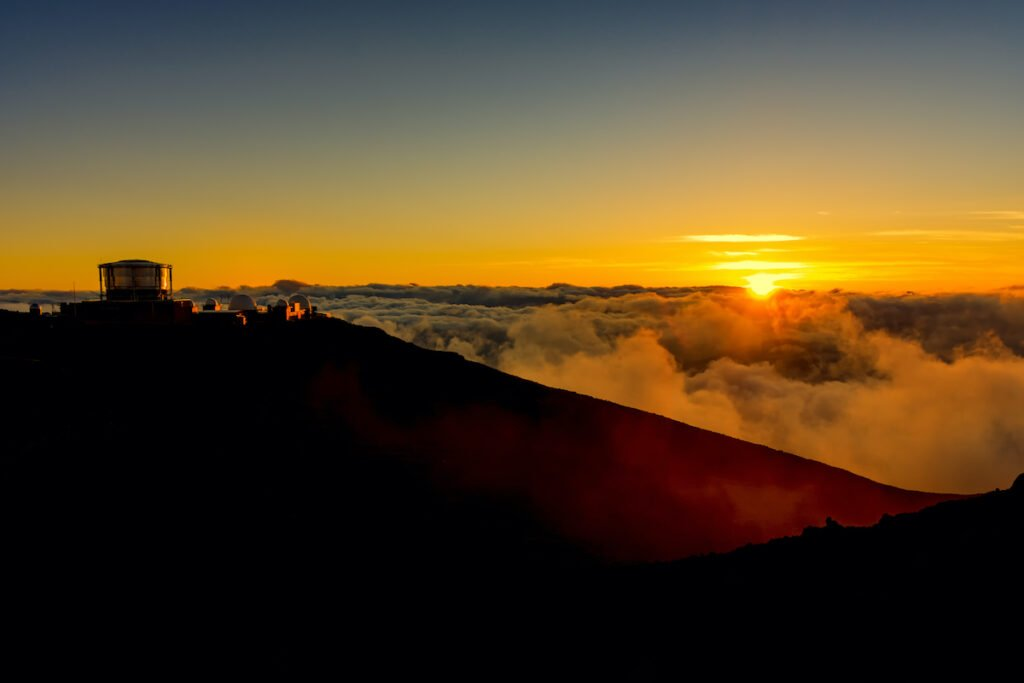 Sunrise at Haleakala National Park, Maui.